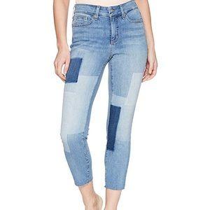 EUC NYDJ Alina Raw Hem Ankle Patchwork Jeans